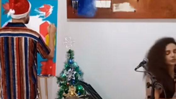 """Apresentação artística """"Pintura Com Inspiração"""" com Alisson Douglas Da Silva"""