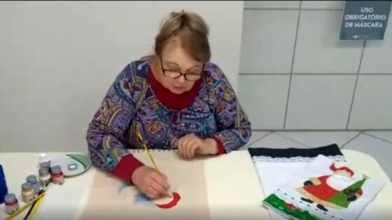 """Artesanato """"Pintura em Tecido"""" com Gertrudes Reinke"""