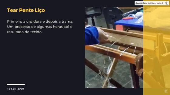 "Artesanato ""Tear Manual"" com Mariza Hinckel Cardoso"